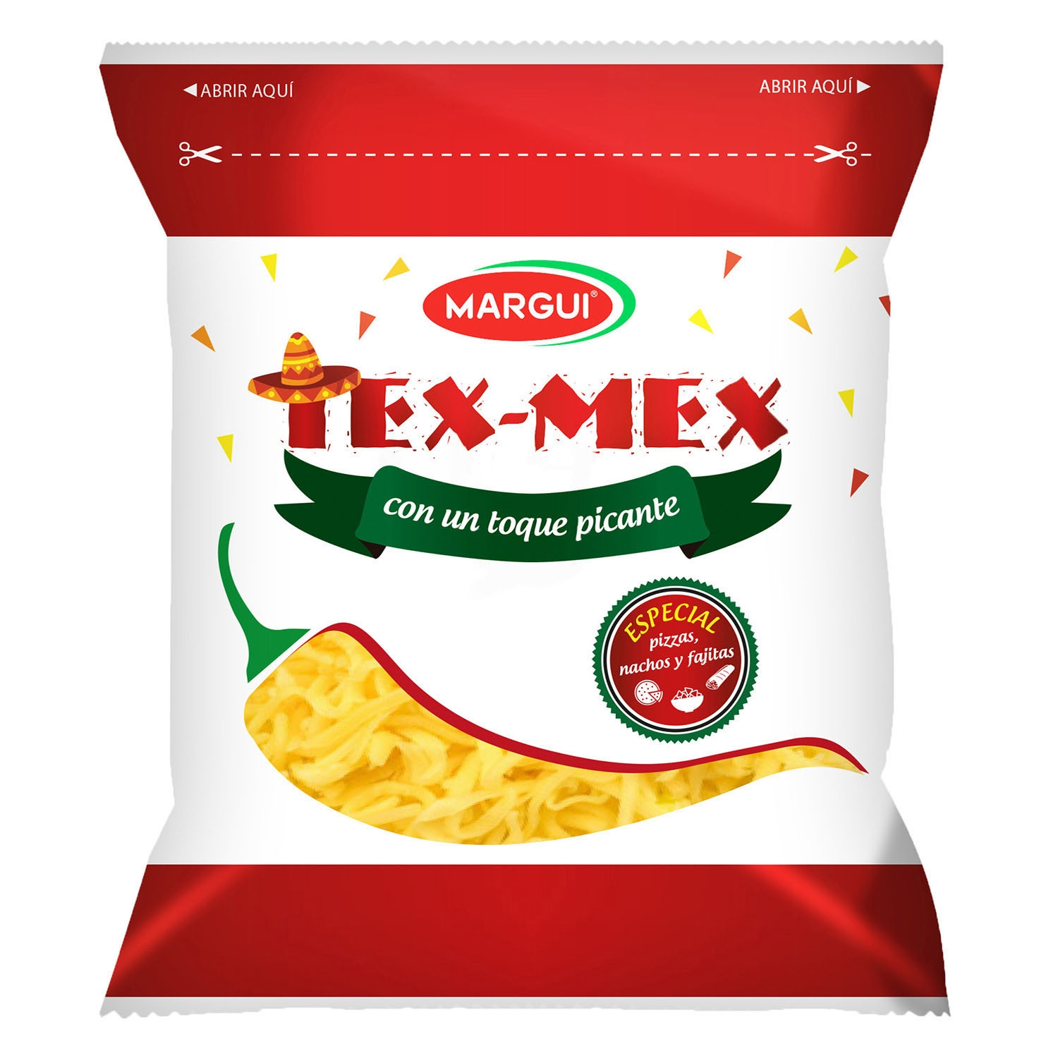 Queso rallado Tex-mex Margui 200 g.