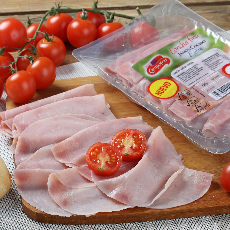 Jamón cocido extra loncha fina Campofrío 150 g