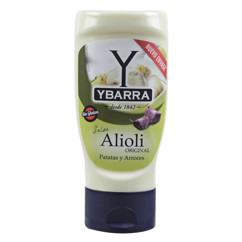 Salsa alioli Ybarra sin gluten y sin lactosa envase 300 g.