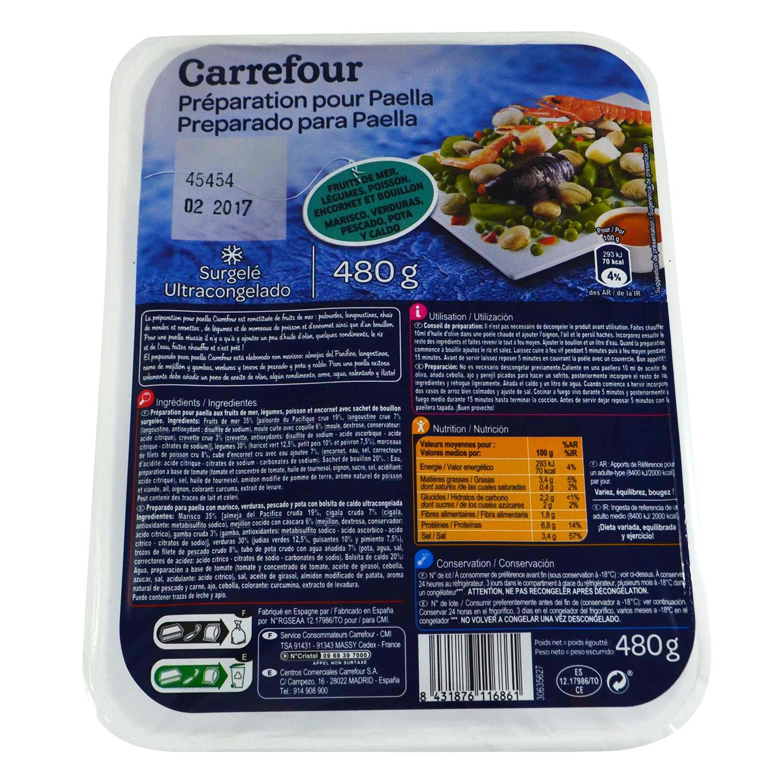 Preparado Paella Carrefour 500 g.