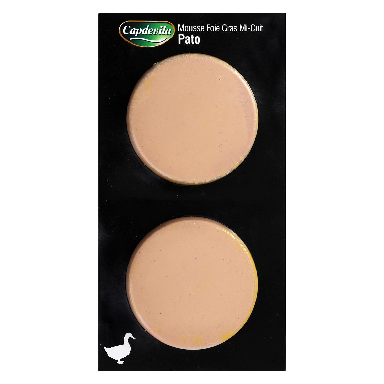 Mousse de foie de pato Mi-cuit 20% Capdevila pack de 2 unidades de 100 g