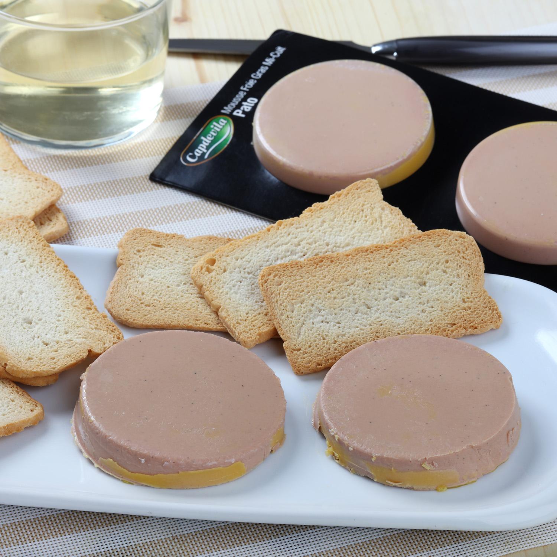 Mousse de foie de pato Mi-cuit 20% Capdevila pack de 2 unidades de 100 g -