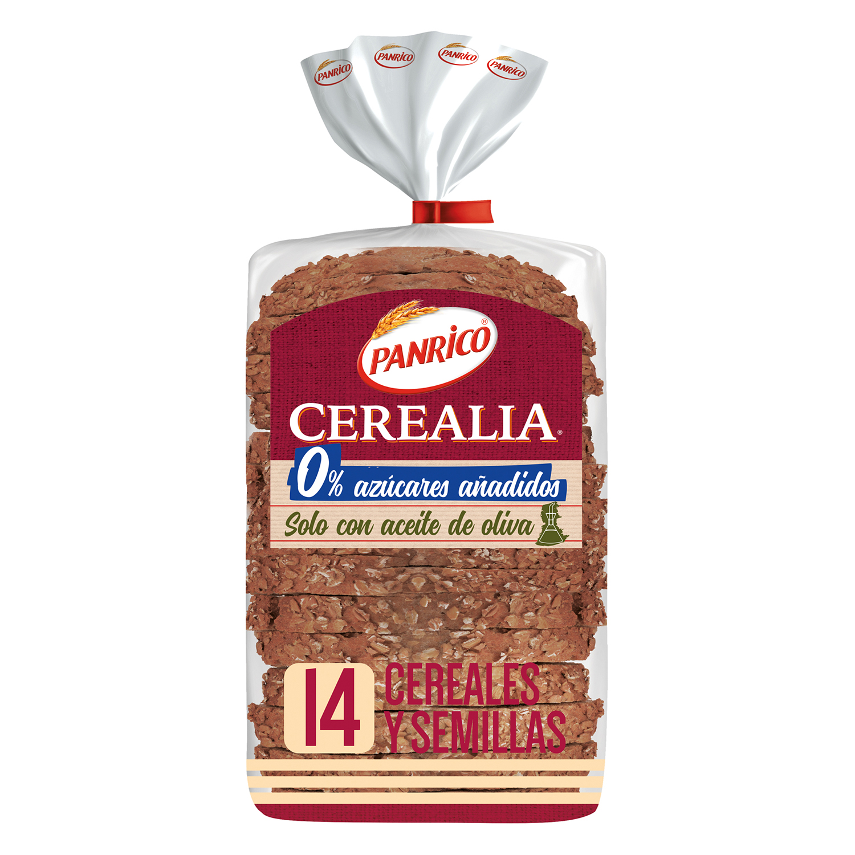 Pan de 14 cereales y seillas Panrico 435 g.
