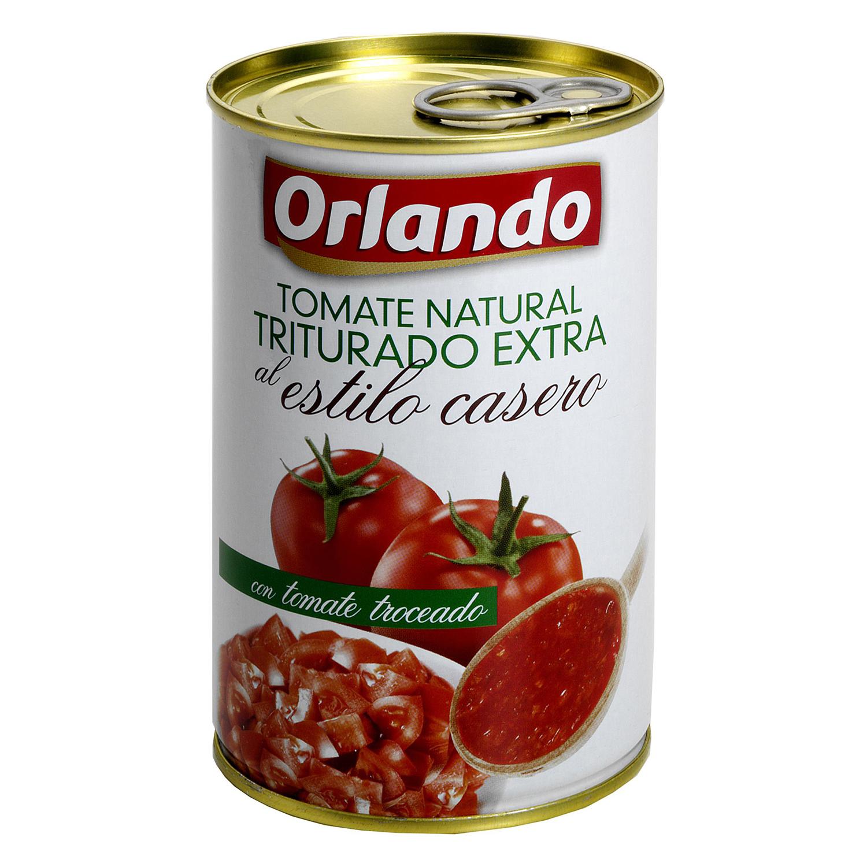 Tomate natural triturado extra al estilo casero Orlando 400 g.