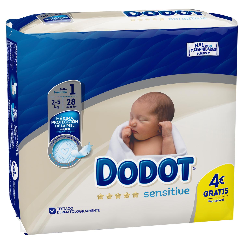 ffa97b884647 Pañales Dodot Sensitive T1 (2kg-5kg) 28 ud. Dodot-Sensitive ...
