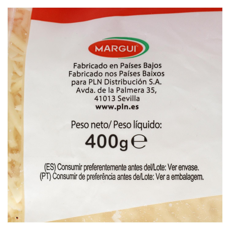 Queso rallado emmental Margui 400 g. -