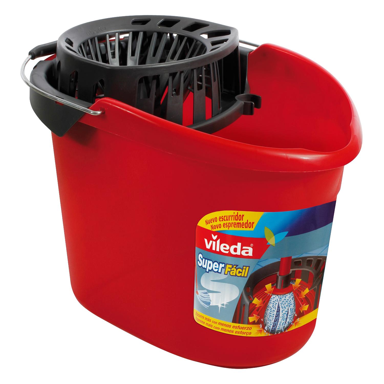 Cubo  de fregar de Plástico VILEDA Super Fácil 10 Litros - Rojo