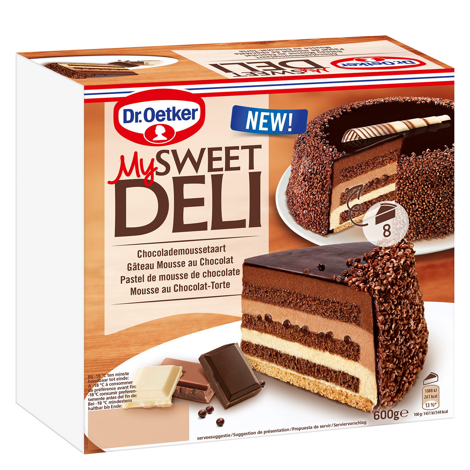 Mousse de chocolate Dr. Oetker 600 g.