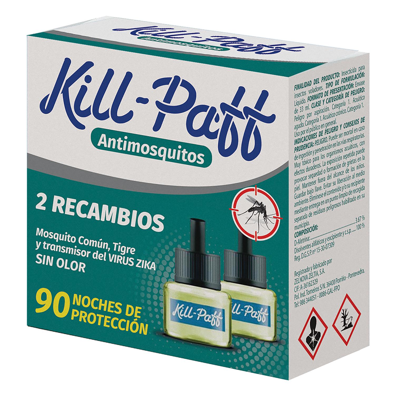 Insecticida eléctrico antimosquitos líquido recambio Kill-Paff 2 ud.