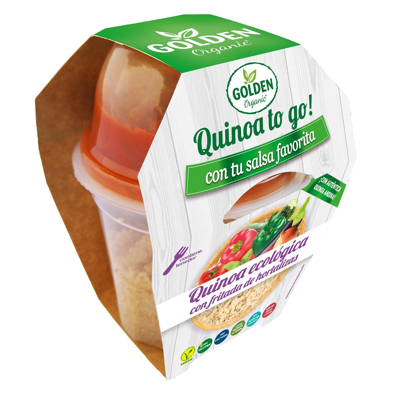 Quinoa to go¡ con fritada de hortalizas ecológica Golden Organic 240 g.