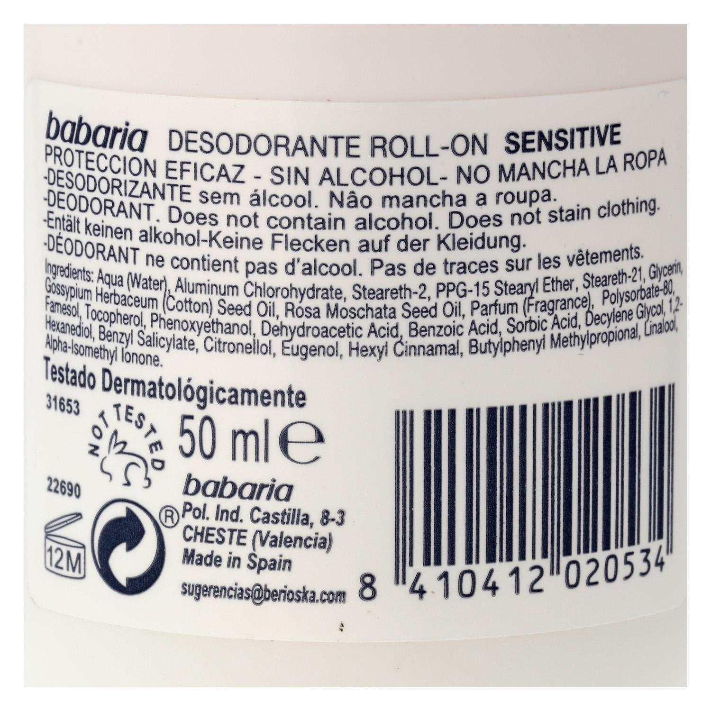 Desodorante sensitive sin alcohol roll-on -