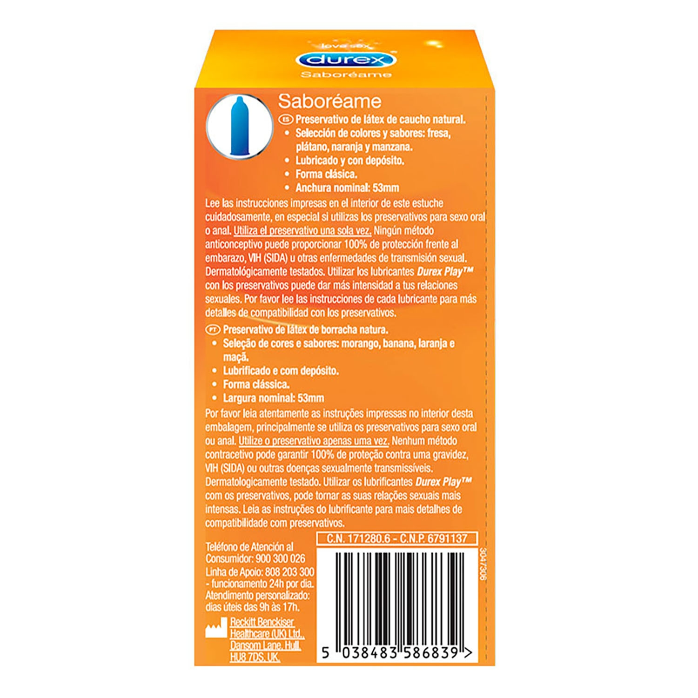 Preservativos Saboréame Durex 12 ud. -