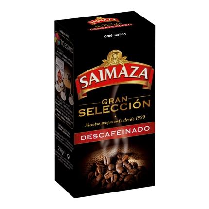 Café molido natural descafeinado gran selección Saimaza 250 g.