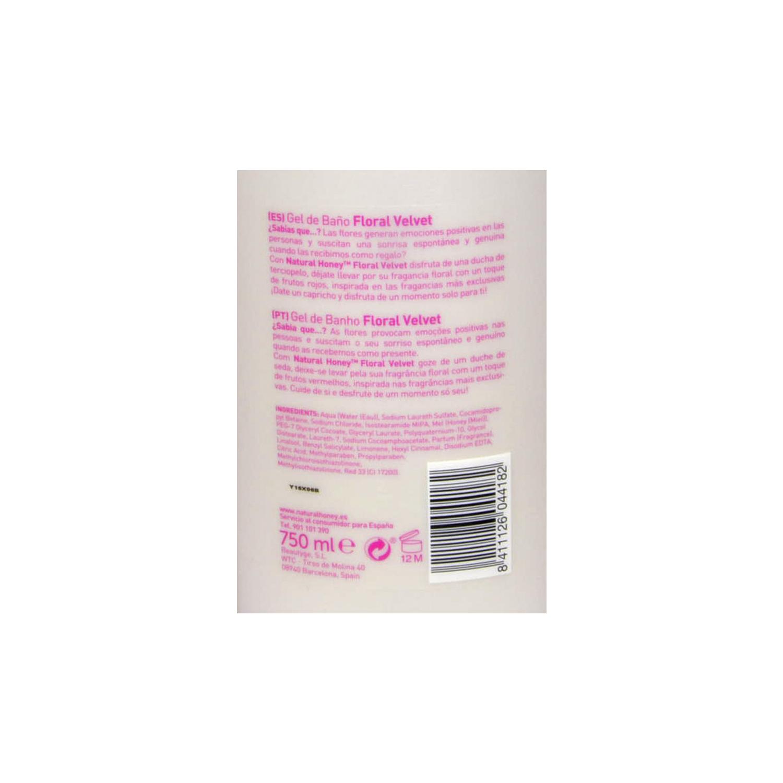 Gel de baño y ducha Foral Velvet Natural Honey 650 ml. -