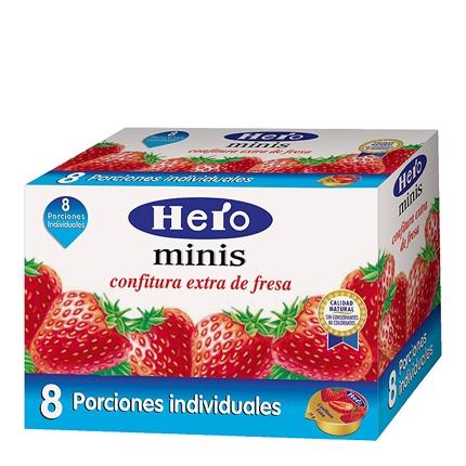 Confitura de fresa categoría extra Hero 200 g.