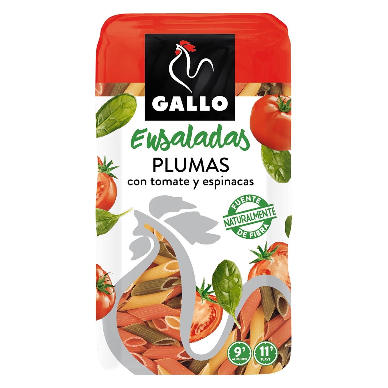 Macarrones de tomate y espinacas Gallo 500 g.