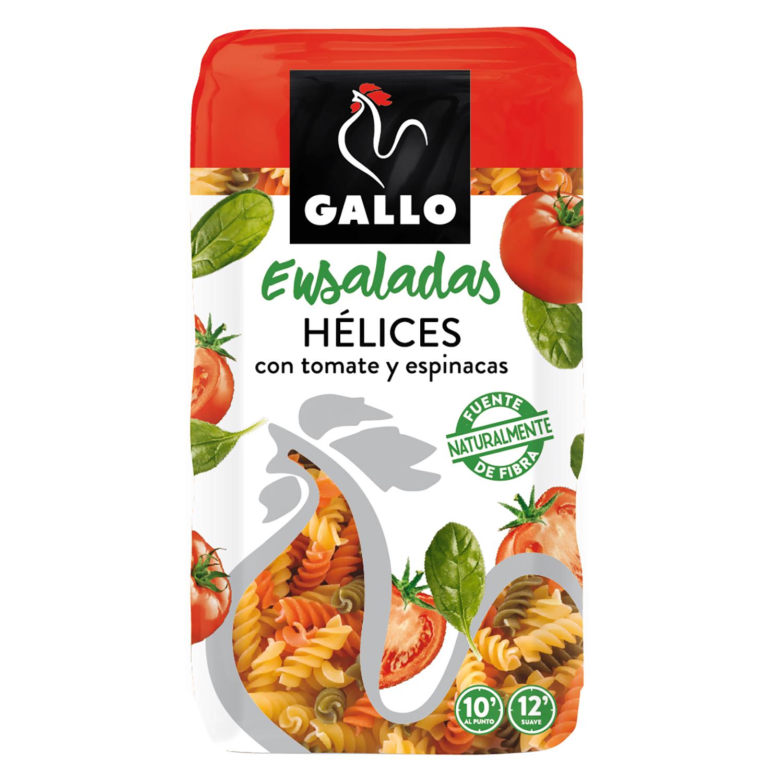 Espirales de tomate y espinacas Gallo 500 g.