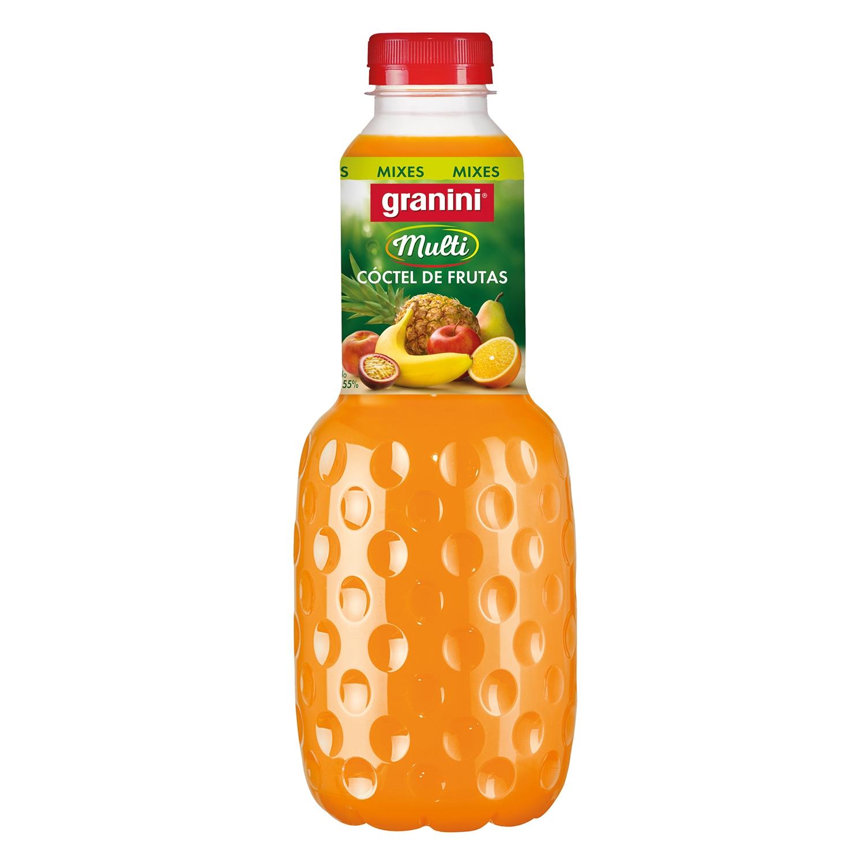 Néctar de cóctel de frutas Granin botella 1 l.