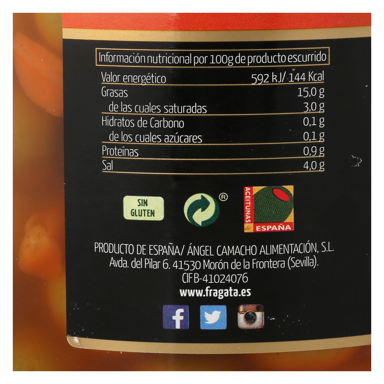 Aceitunas manzanilla aliñadas estilo gazpacha Fragata 595 g. -