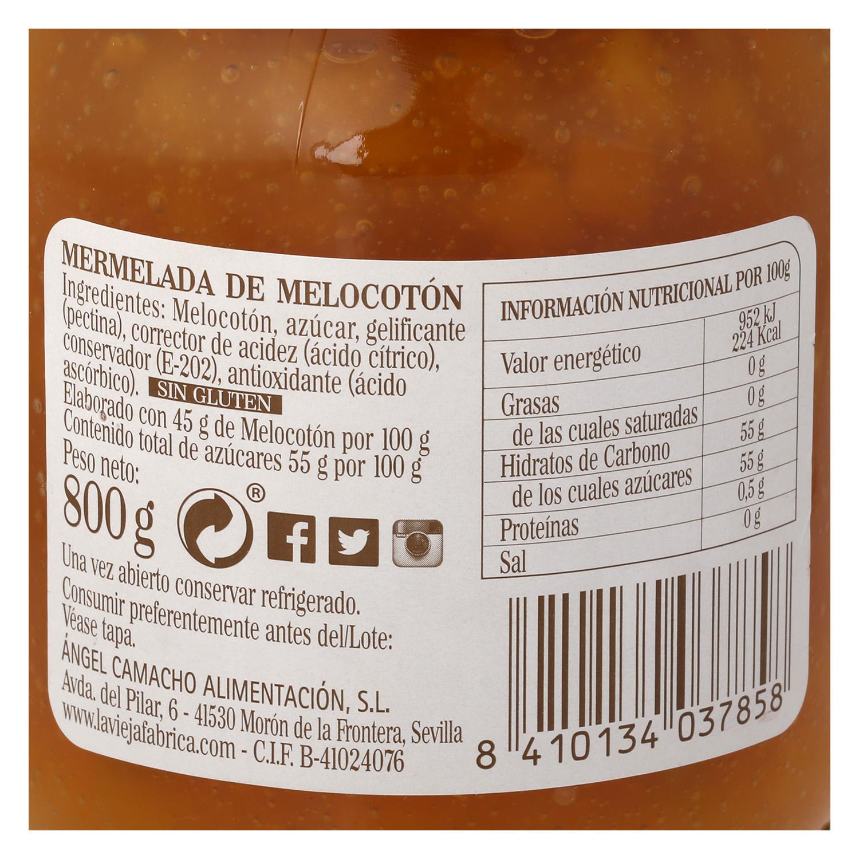 Mermelada de melocotón La Vieja Fábrica 80 g. -