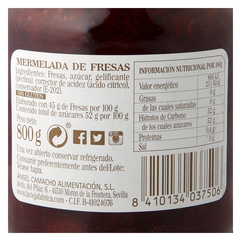Mermelada de fresa La Vieja Fábrica 800 g. -