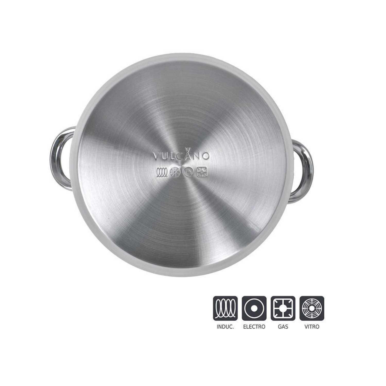 Cacerola Clásica de Acero Inoxidable Vulcano 24cm Inox -