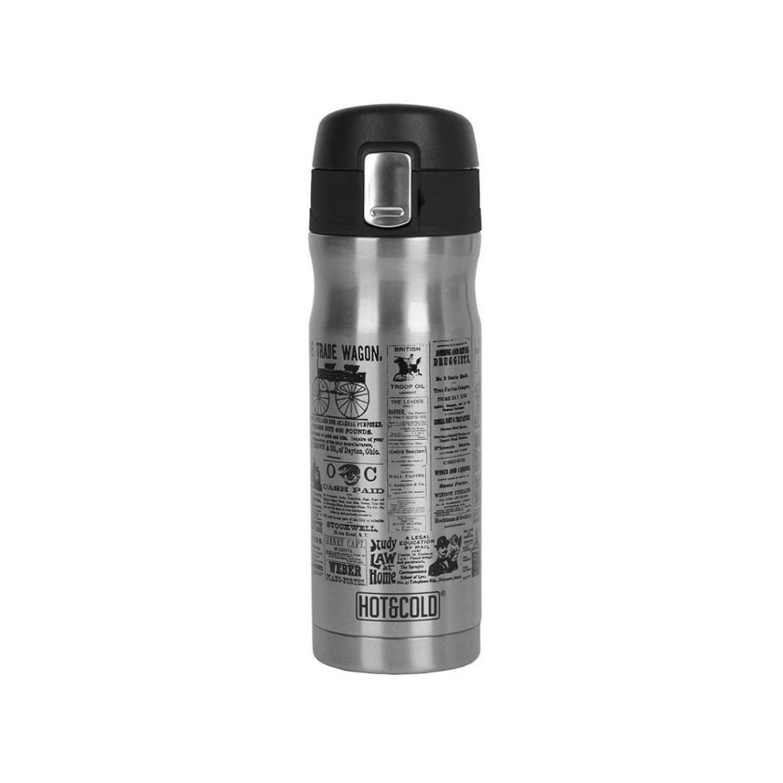 Termo Clásico de Acero Inoxidable Hot & Cold 6,8cm - Inox