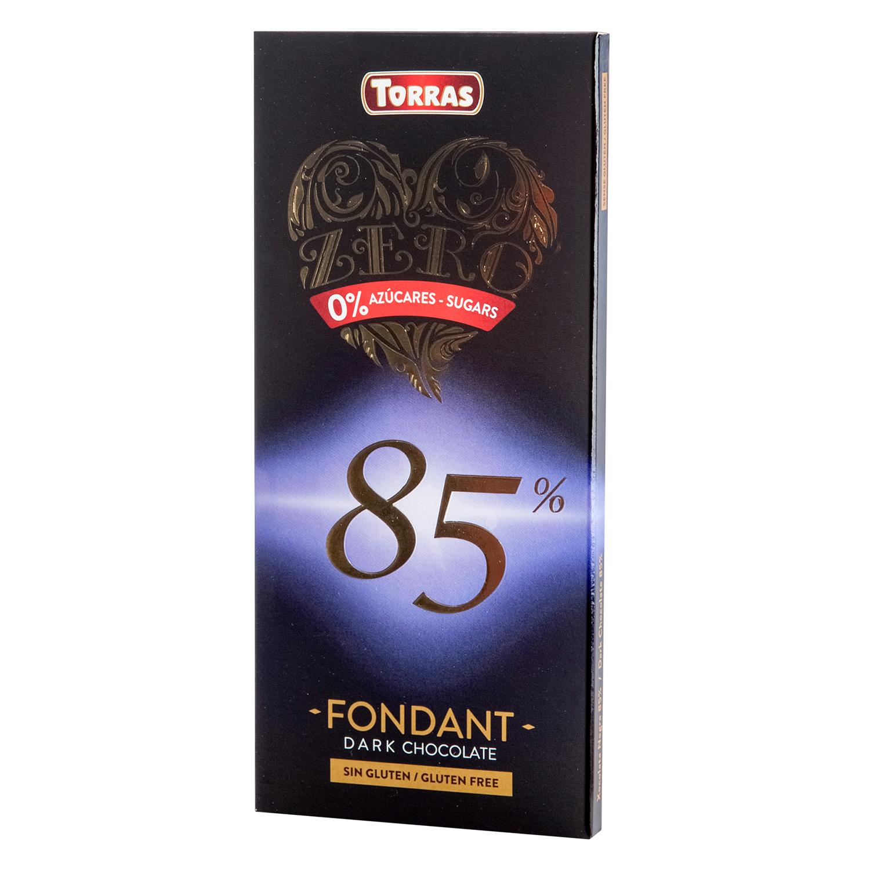 Chocolate negro 0% azúcares sin gluten