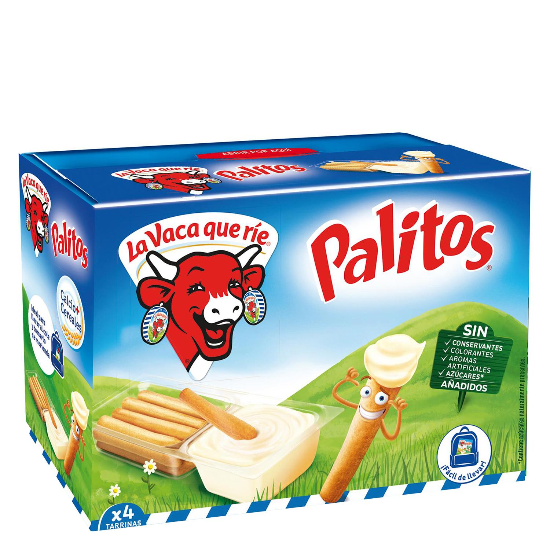 Queso fundido graso y bastoncitos Pik y Croq La Vaca que ríe 140 g.