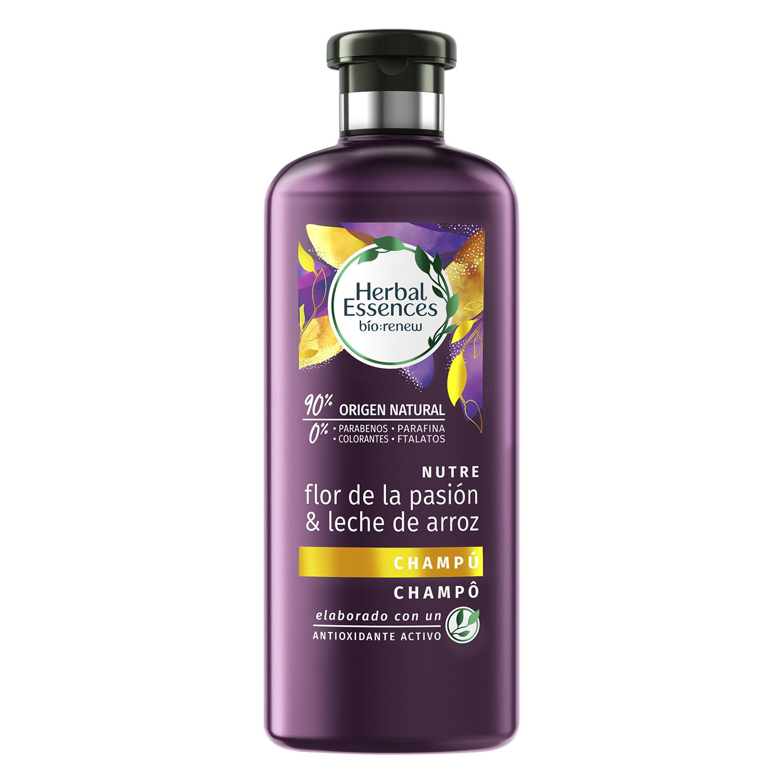 Champú flor de la pasión ecológico Herbal Essences 400 ml.