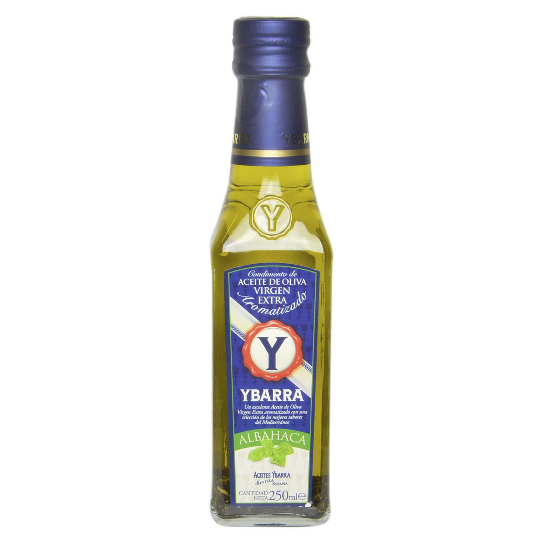 Aceite de oliva virgen extra aromatizado con albahaca