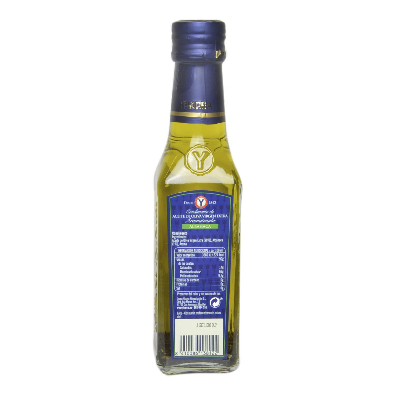 Aceite de oliva virgen extra aromatizado con albahaca -