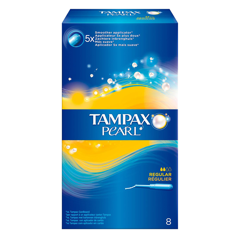 Tampones Pearl regular Tampax 8 ud.