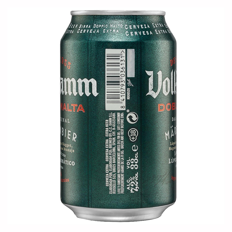 Cerveza Voll Damm doble malta lata 33 cl. -