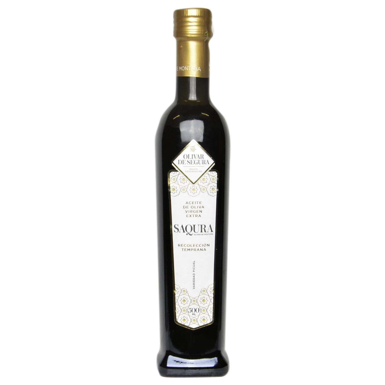 Aceite de oliva virgen extra Saqura D.O. Sierra de Segura 500 ml.