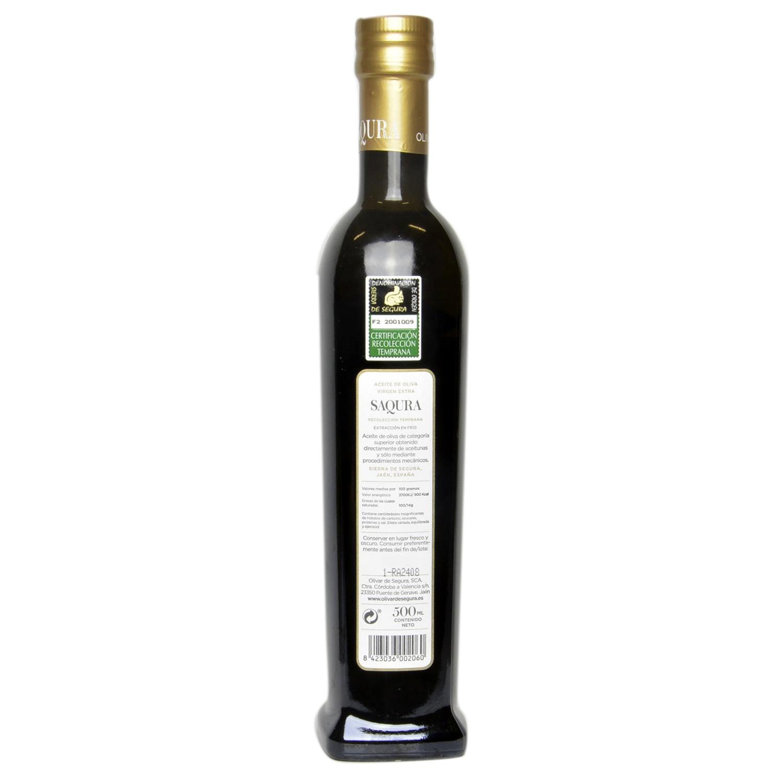 Aceite de oliva virgen extra Saqura D.O. Sierra de Segura 500 ml. -