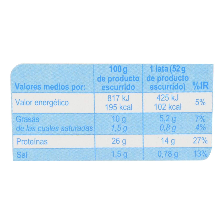 Atún en aceite de oliva Producto blanco pack de 6 unidades de 52 g. - 2
