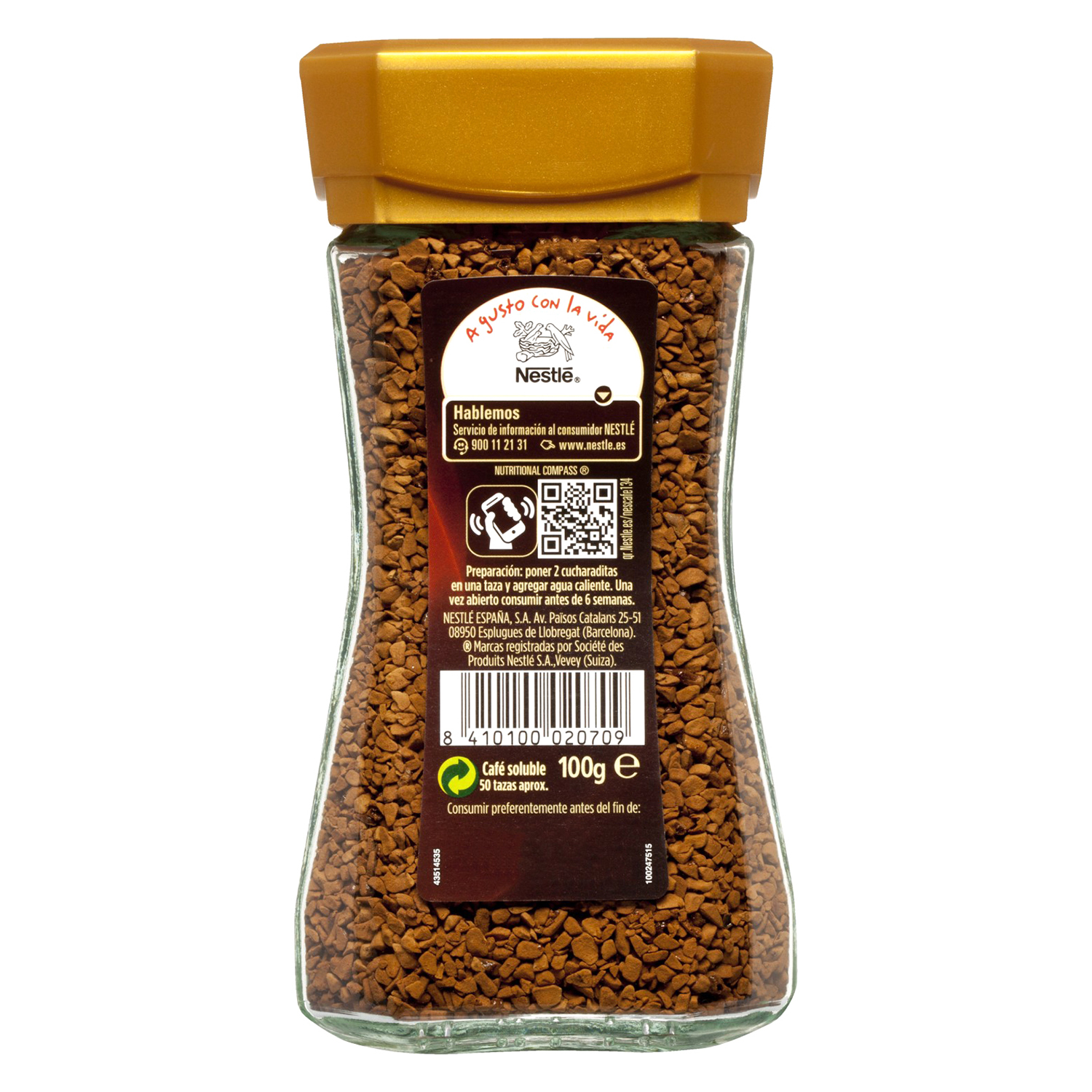 Café soluble natural Gold Nescafé 100 g. - 2