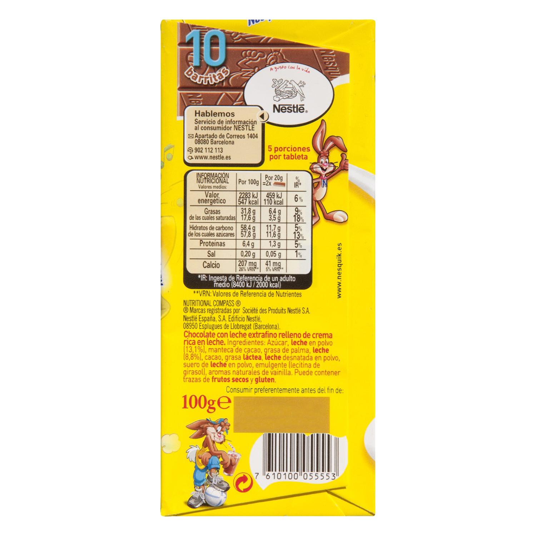 Chocolate con leche relleno de crema -