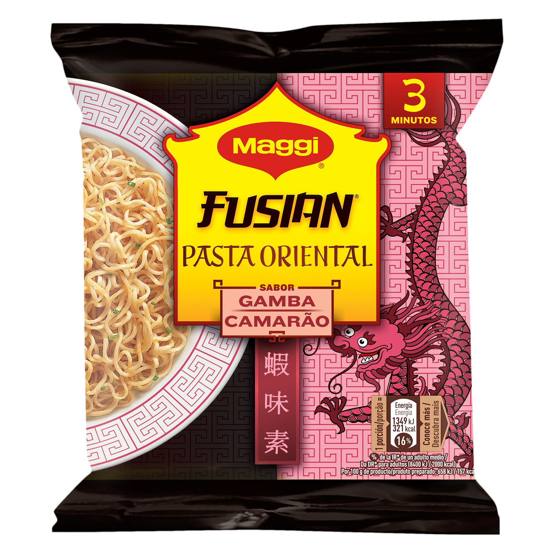 Pasta oriental Fusian sabor gamba Maggi 69 g.