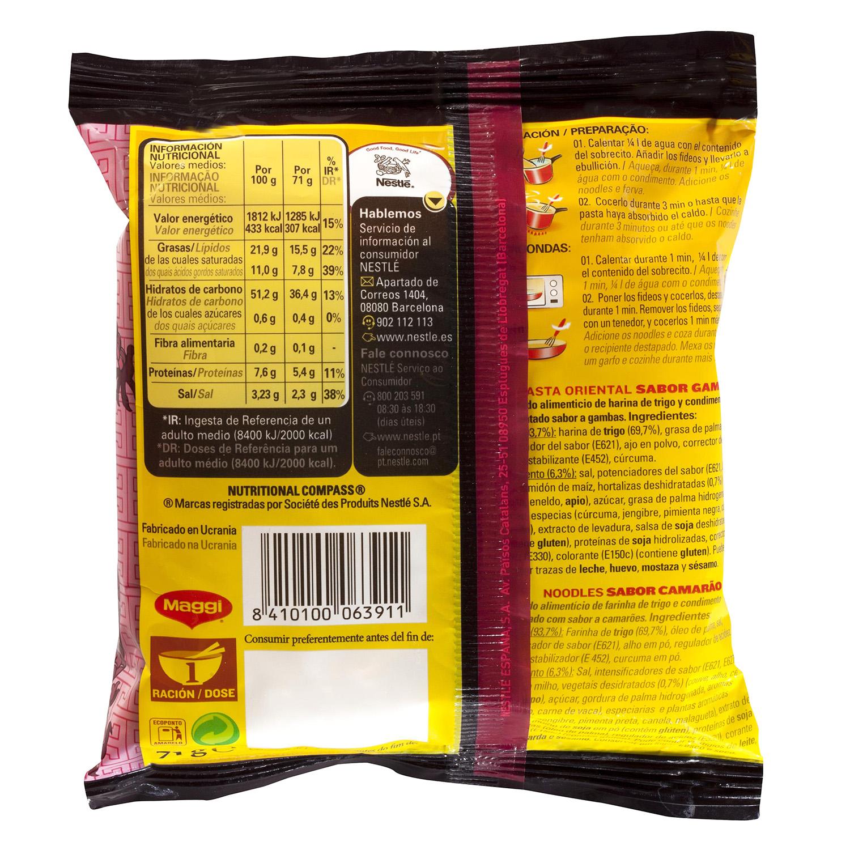Pasta oriental Fusian sabor gamba Maggi 69 g. - 2