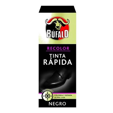 Tinta rápida calzado negra Búfalo 25 ml.
