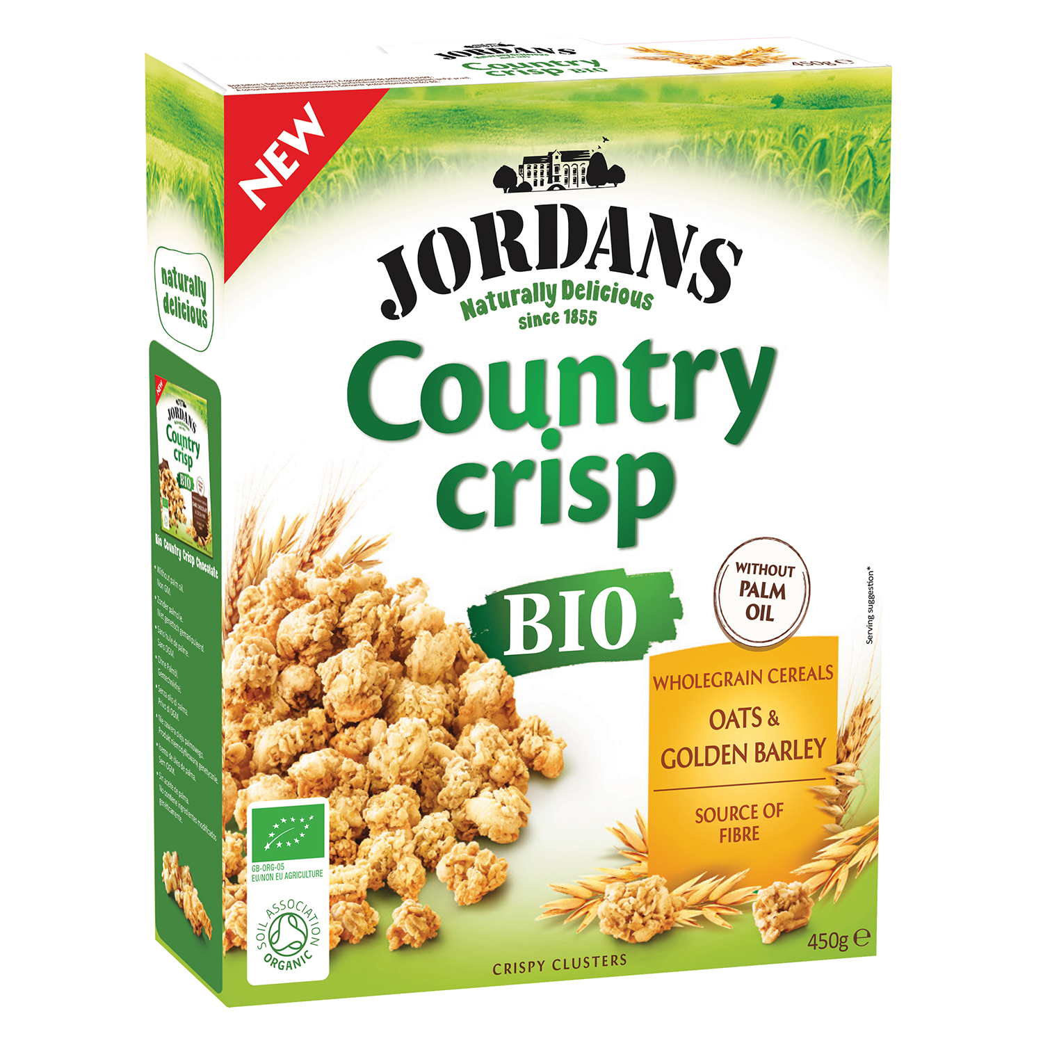 Cereales ecológicos Country Crips Jordans 450 g.