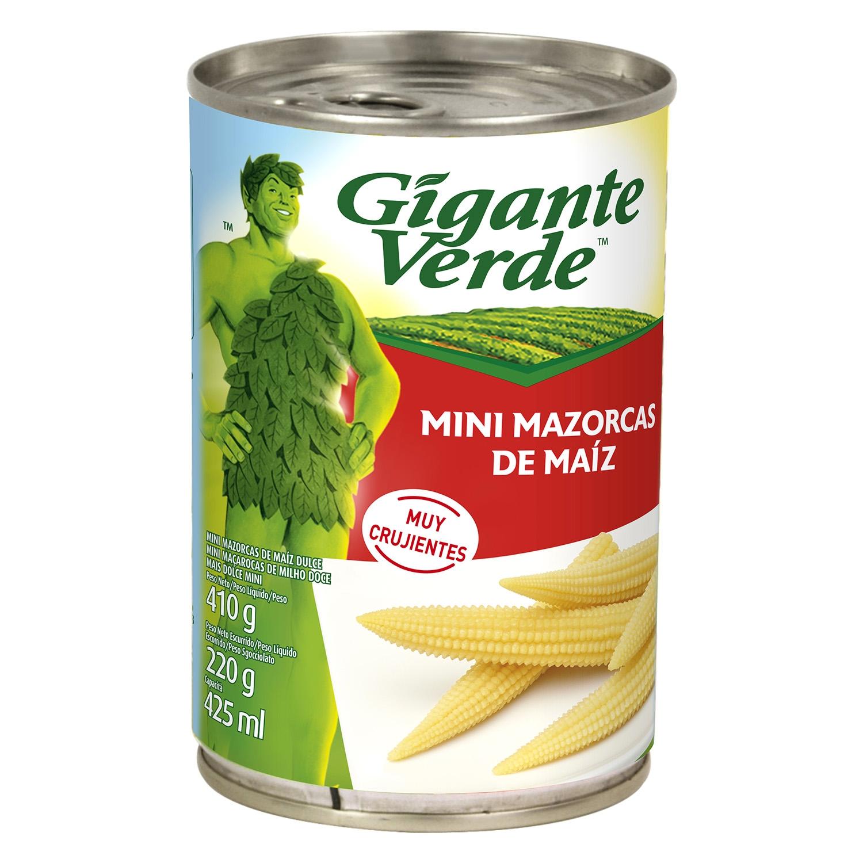 Mini mazorcas de maíz Gigante Verde 220 g.