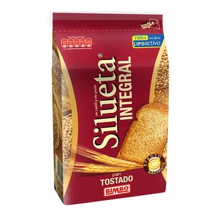 Pan tostado integral con fibra lipoactiva Bimbo-Silueta pack de 324 g.