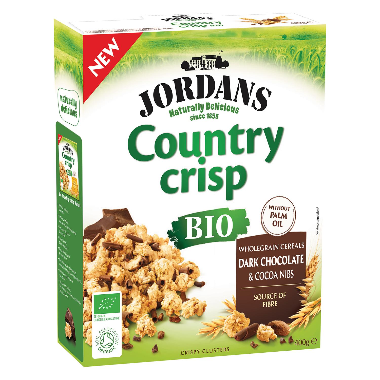 Cereales con chocolate negro ecológicos Country Crips Jordans 450 g.