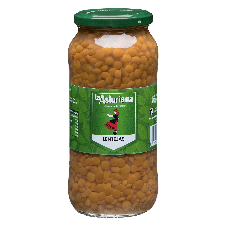 Lenteja La Asturiana cocida 580 g.