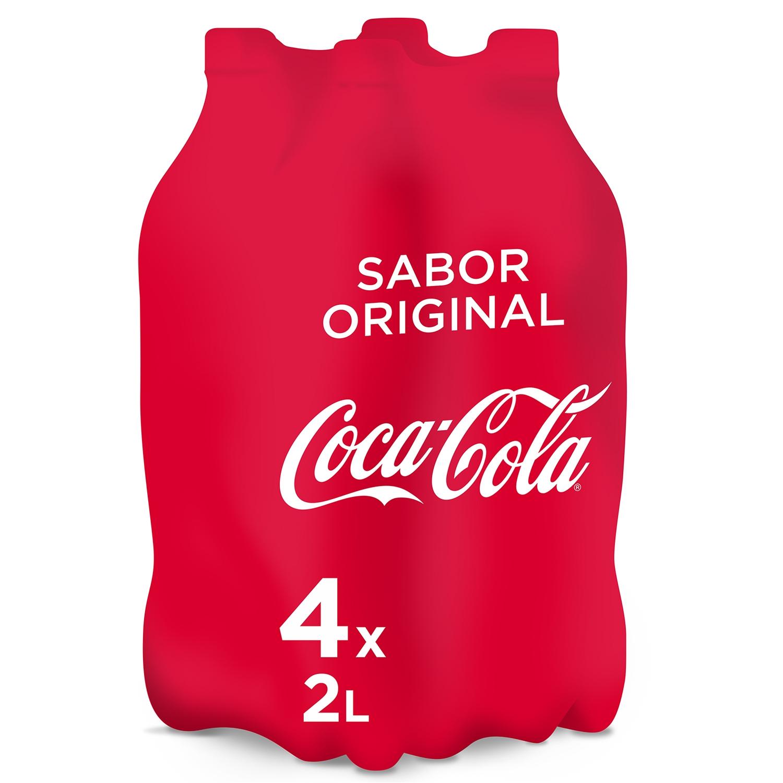 Refresco de cola Coca Cola pack de 4 botellas de 2 l.