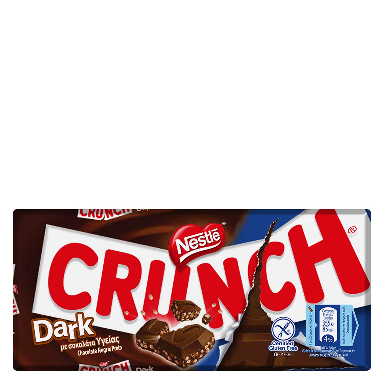 Chocolate negro con cereales crujientes Nestlé sin gluten 100 g.