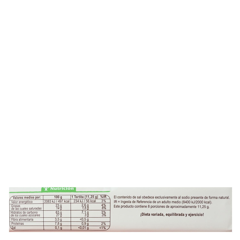 Tortitas de arroz con chocolate y leche ecológicas Carrefour Bio sin gluten 90 g. - 2